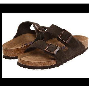 Birkenstock Brown Suede Arizona Sandals